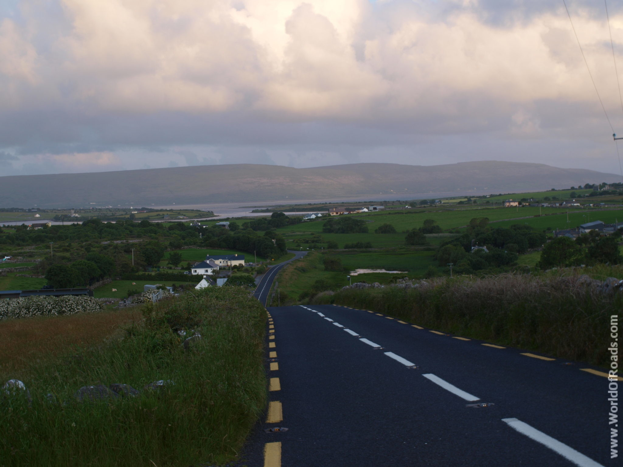 Road in Irish countryside.