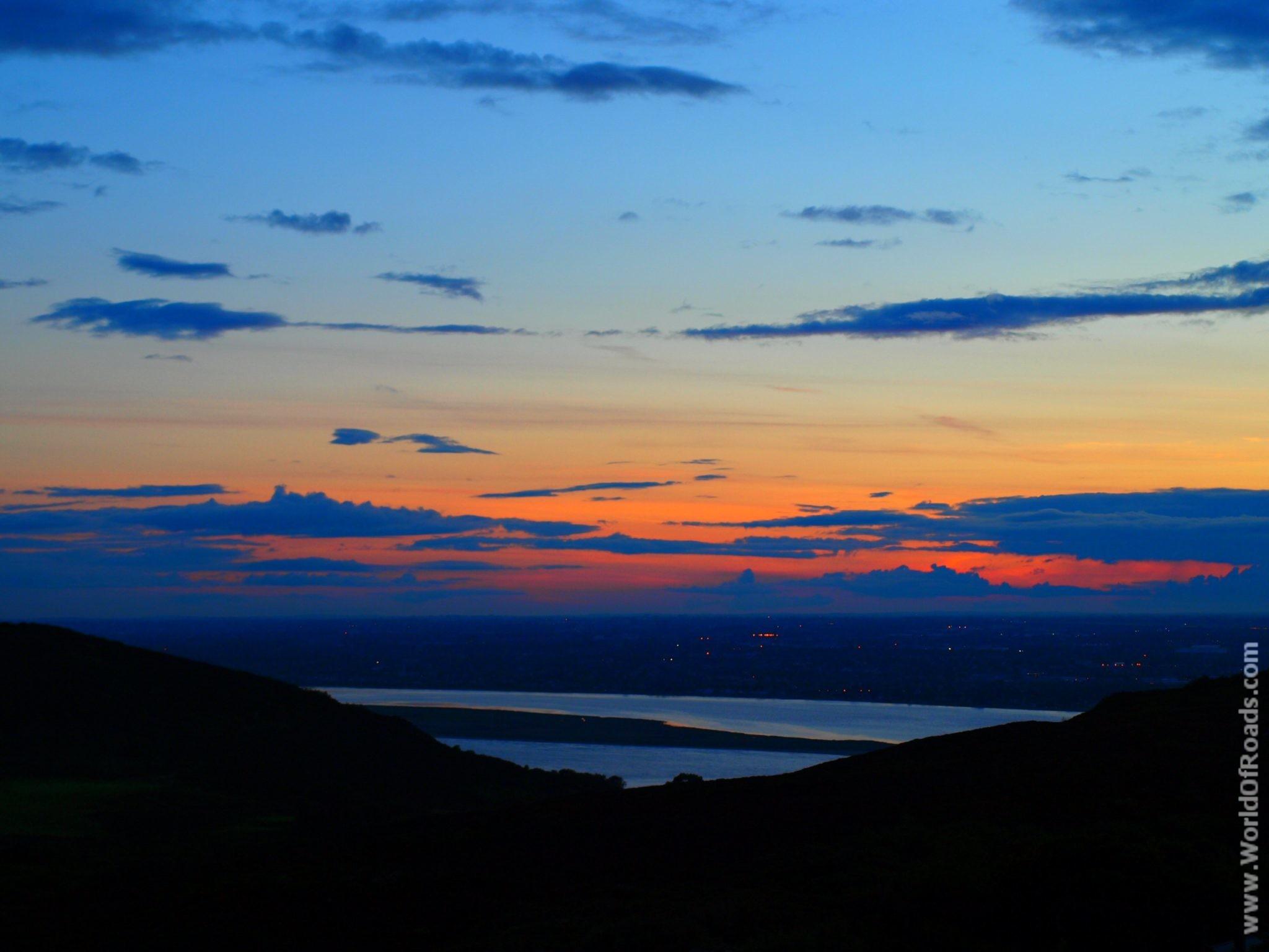 Вид на вечерний Дублин. Ирландия.