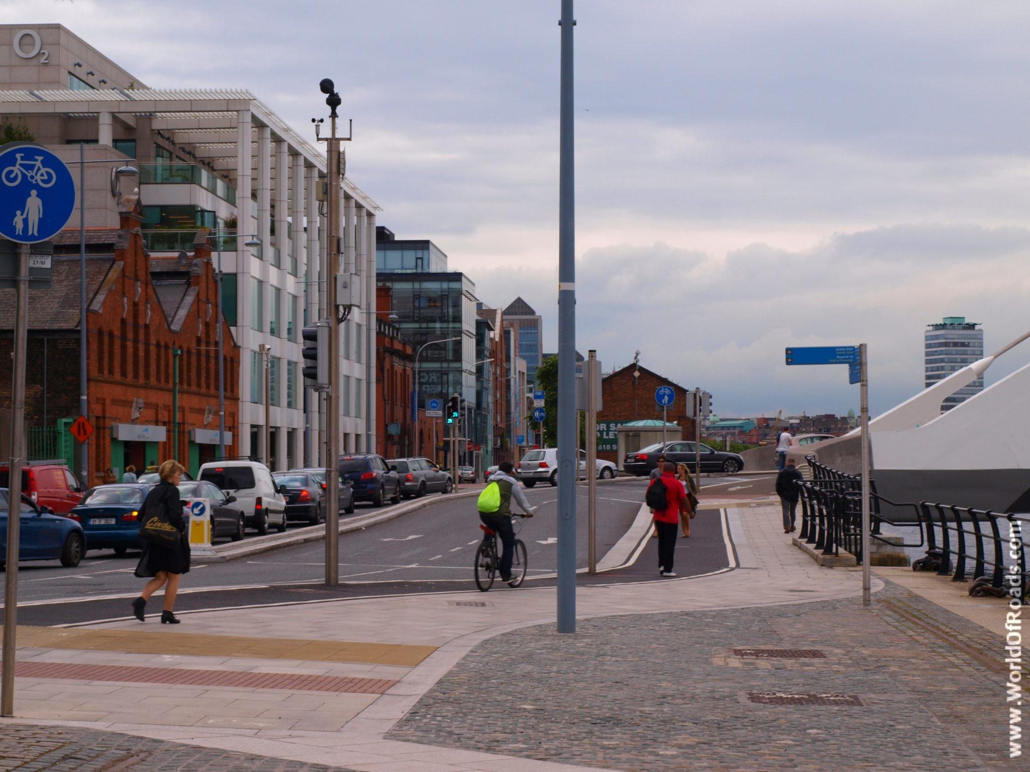 Велодорожки. Дублин. Ирландия.