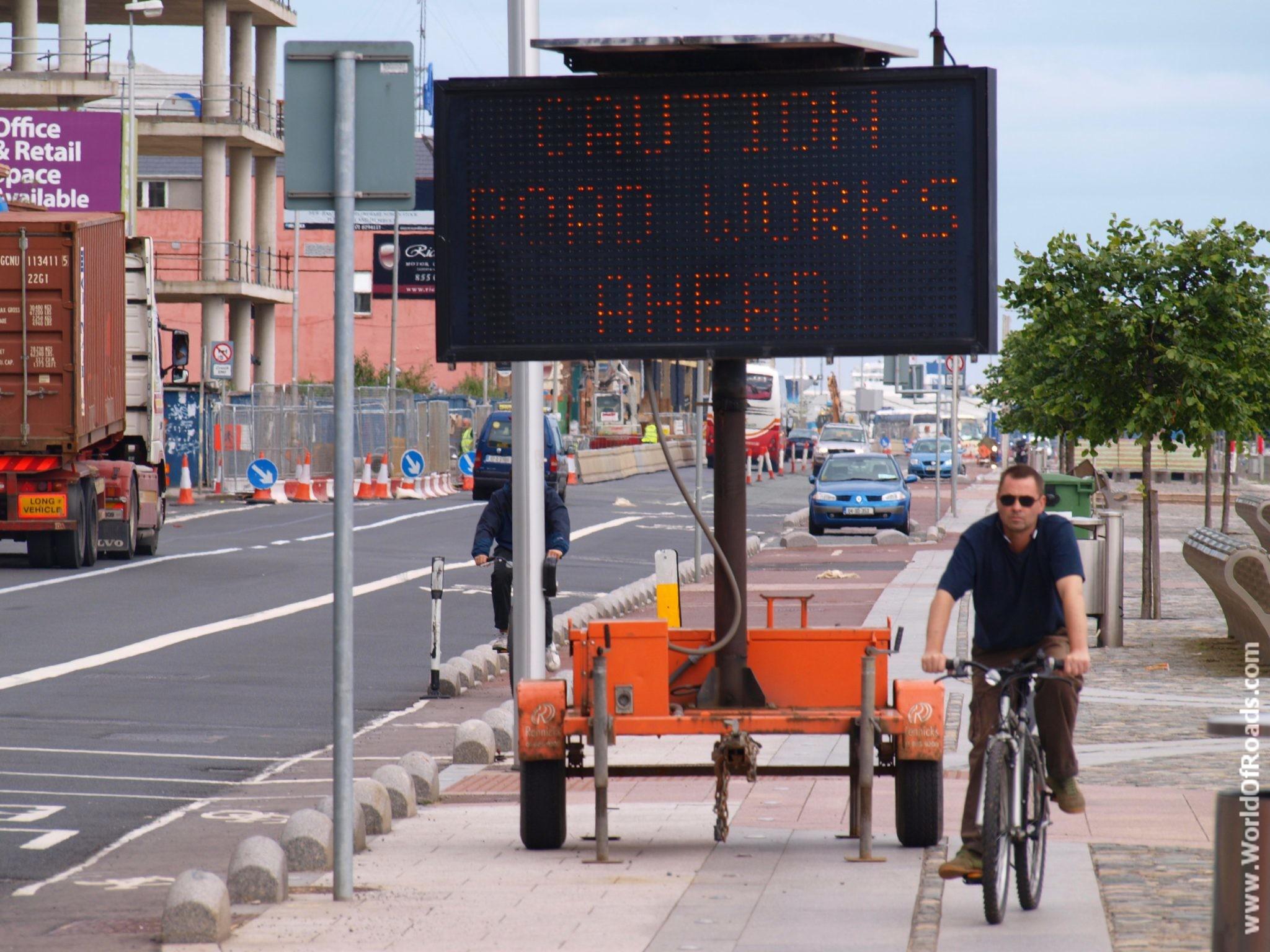 Дорожные работы. Дублин. Ирландия.
