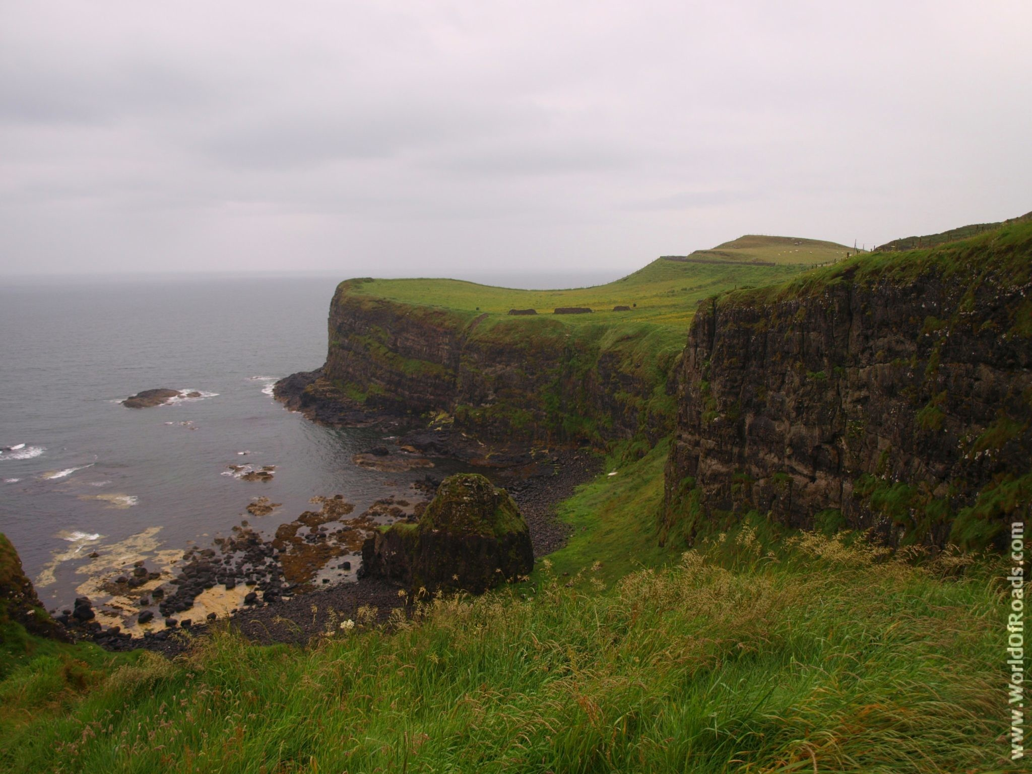 Замок Данлюс (Dunluce Castle). Северная Ирландия.