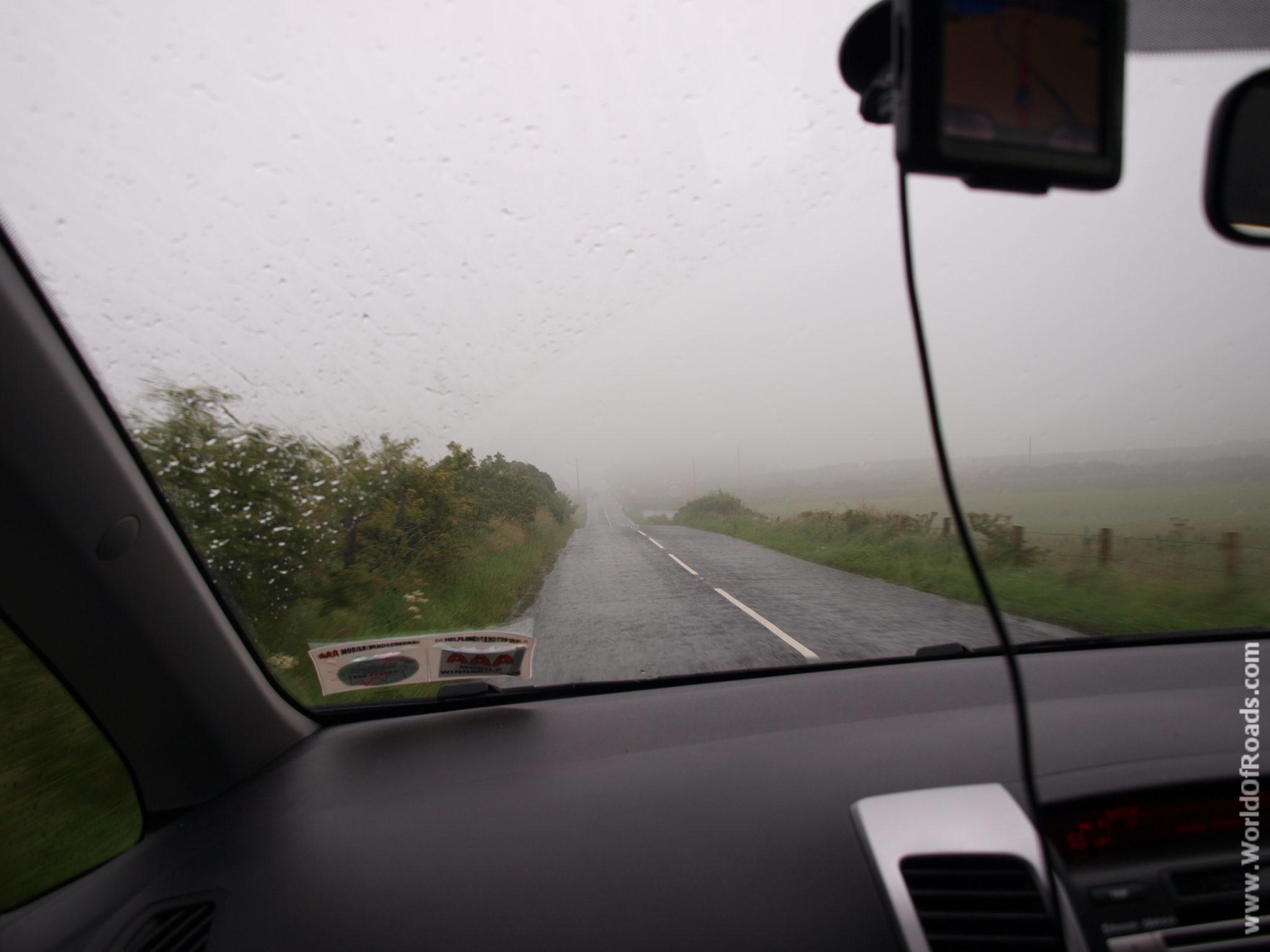 Дорога. Туман. Северная Ирландия.