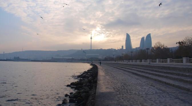 Большое Зимнее Путешествие 2014: граница Азербайджана, дорога в Баку