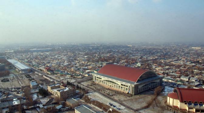 Ташкент с высоты птичьего полета (Узбекистан)