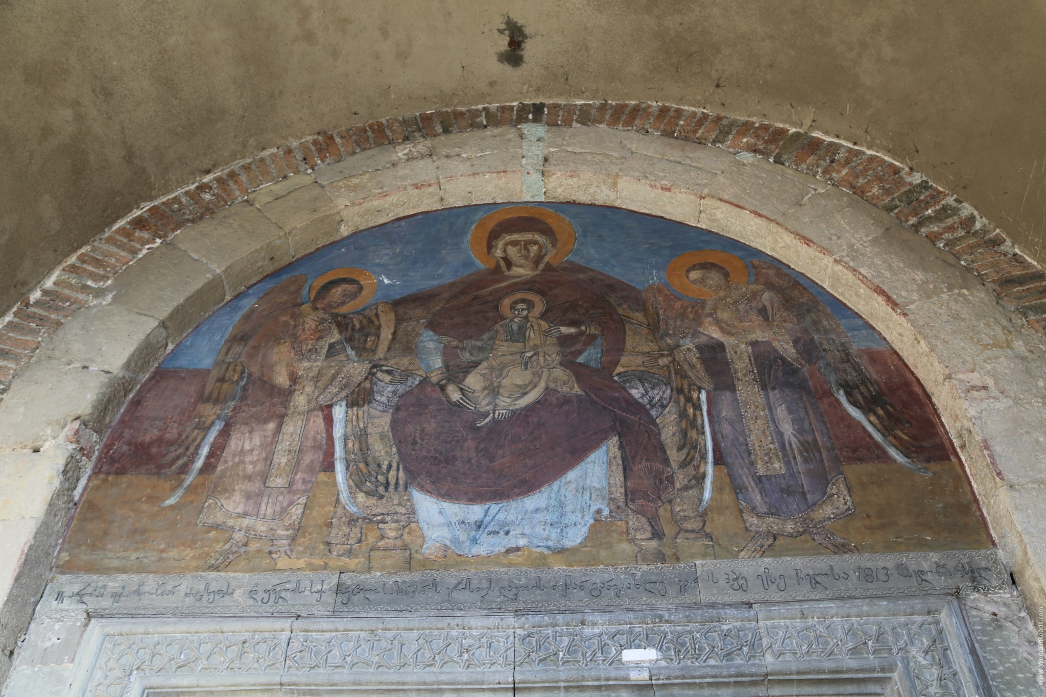 Фрески внутри Собора Светицховели.
