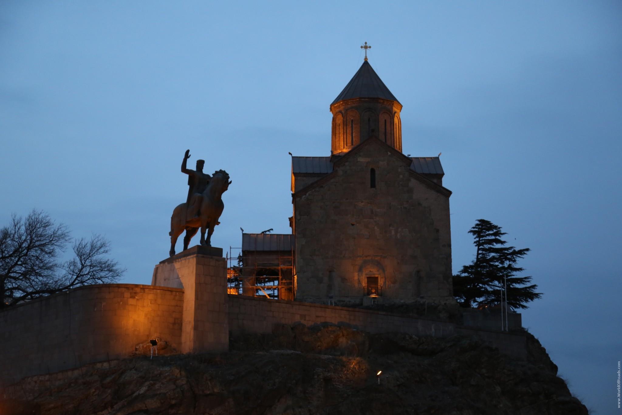 Храм с всадником. Тбилиси. Грузия