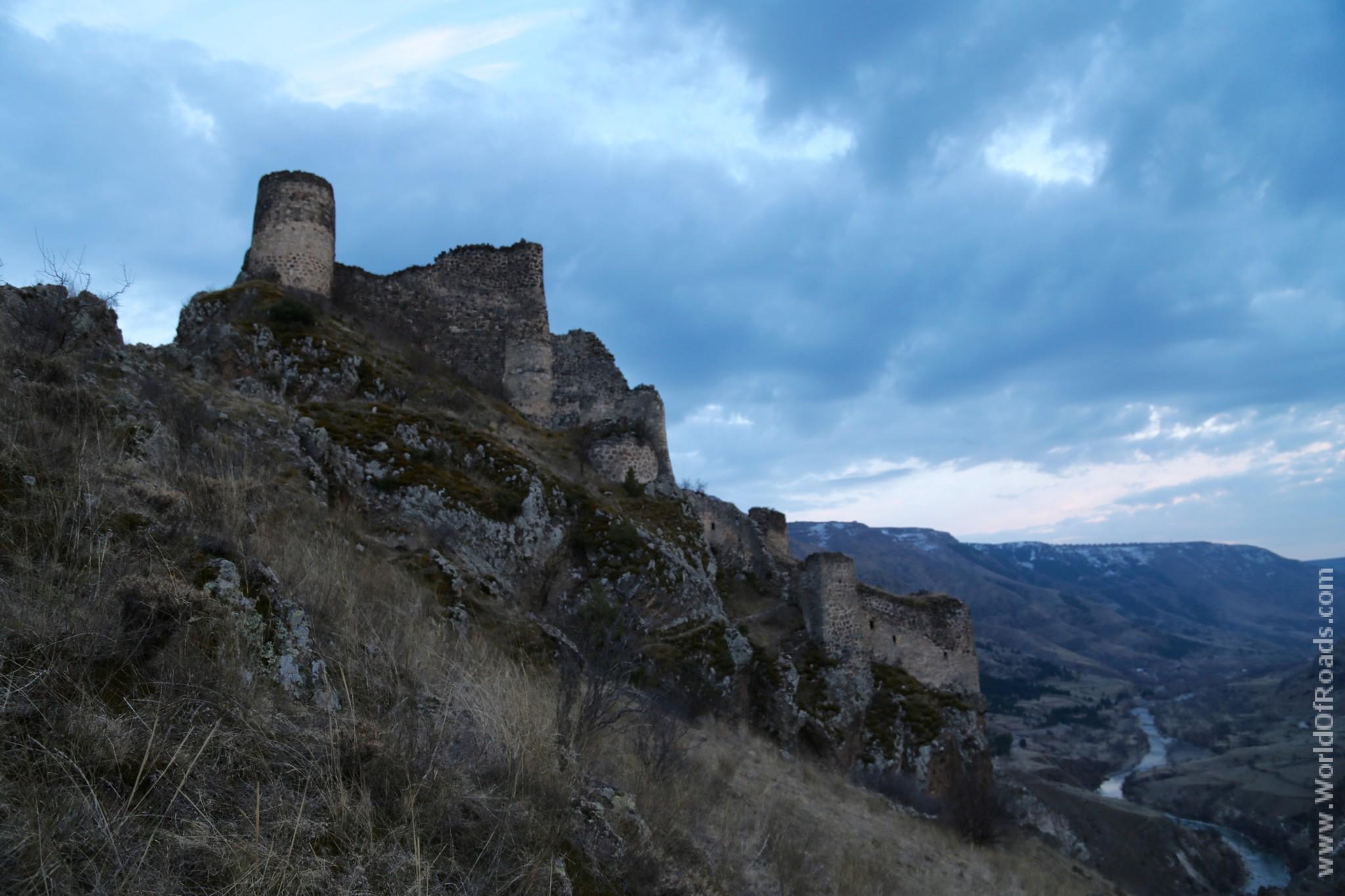 Крепость Тмогви. Грузия. Руины. Замок.