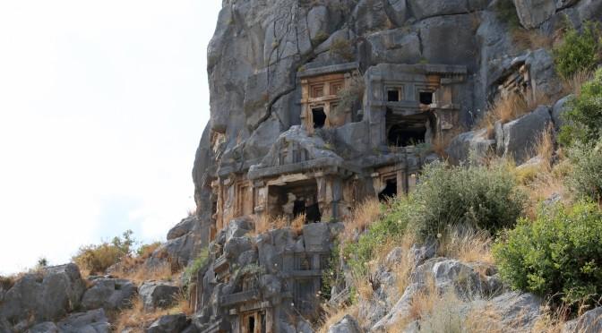 Ликийский гробницы в городе Мира