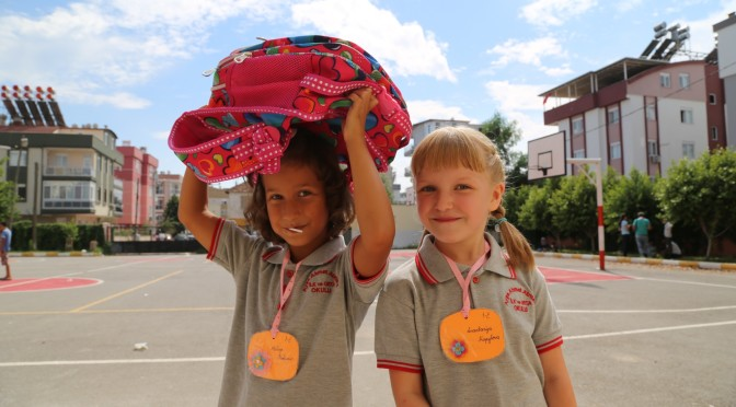 В школу в Анталии. Путешествия с детьми.