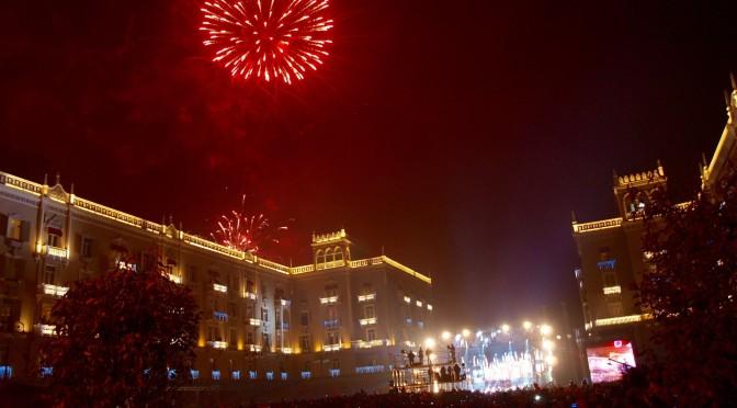 Граница Азербайджан — Грузия, новый год в Тбилиси