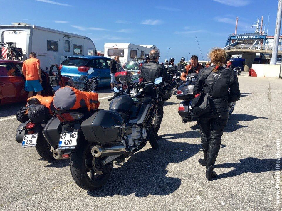 Cherbourg motorcycles ferry