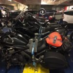 Motorcycles on ferry