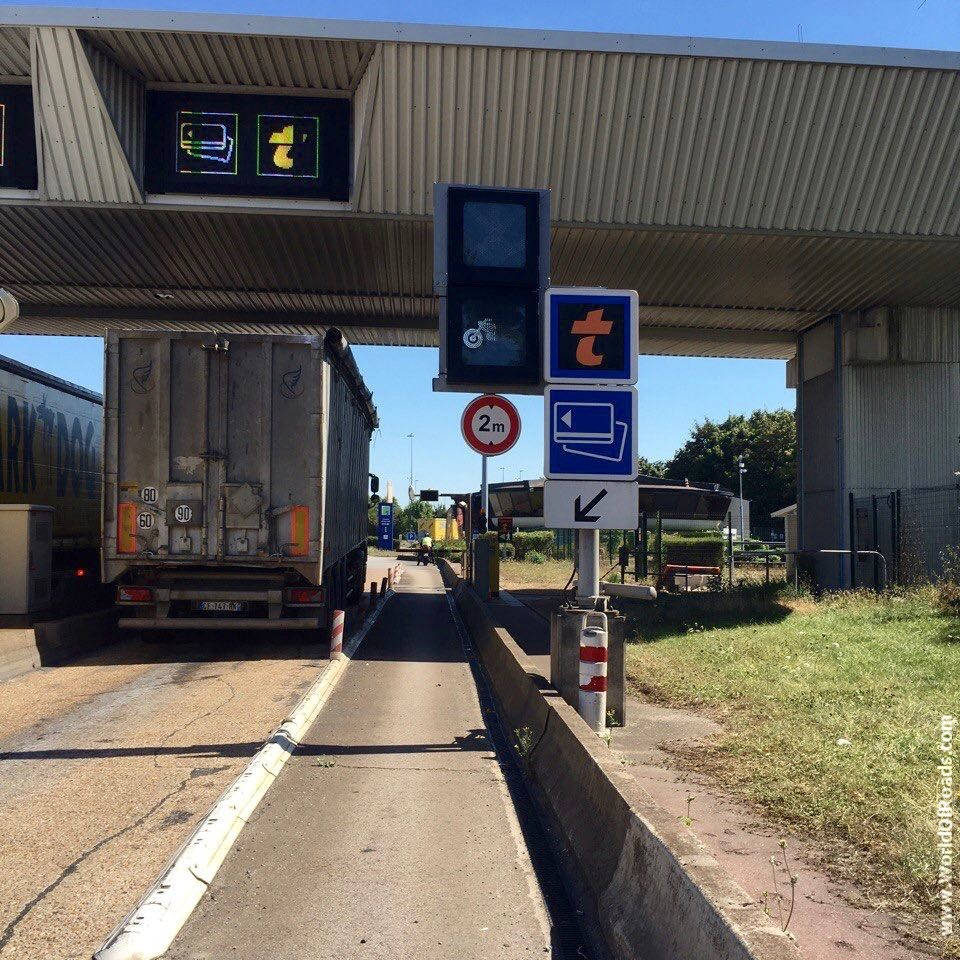 Toll Road France motorcycle pass