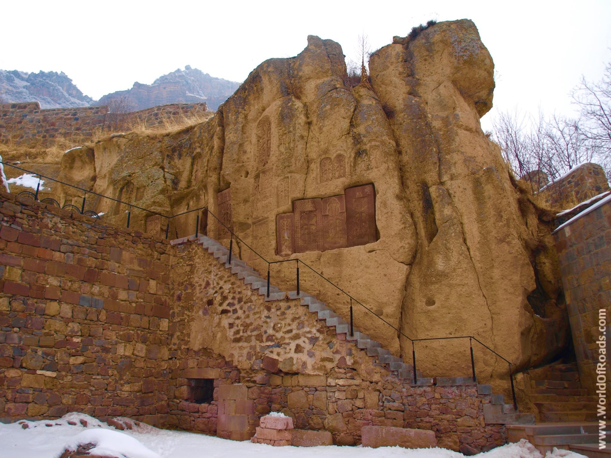 Монастырский комплекс Гегард в Армении. Достопримечательность ЮНЕСКО